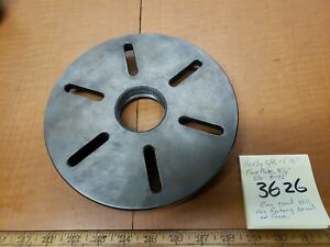 Southbend Lathe Heavy10 Early 15 16 Faceplate 81 2 dia 21 4 8 Tpi Exc Cond