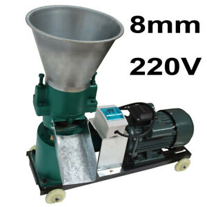 8mm Chicken Feed Machine Pellet Mill Farm Granulator Cornstalk Grinder 220v 4hp