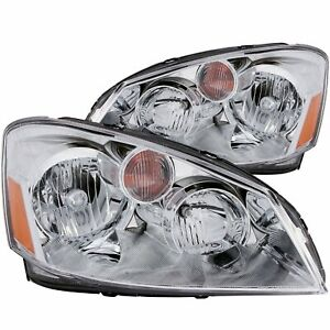 Anzo Crystal Headlights Set Chrome clear For 2005 2006 Nissan Altima 121294