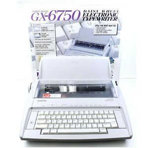 Brother Gx 6750 Daisy Wheel Electronic Portable Typewriter With Box And Manuals