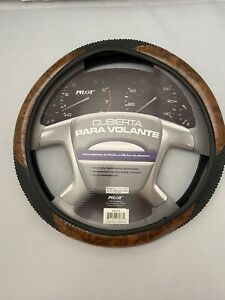 Massage Grip Wood Grain Steering Wheel Cover 14 5 To 15 5 Fit Ford