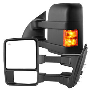 Towing Mirrors For 1999 2007 Ford F250 F350 F450 F550 Super Duty Power Heated