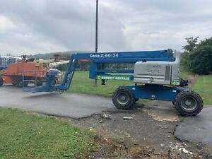 2007 Genie Z60 34 60 4x4 Diesel Rough Terrain Articulating Boom Man Lift