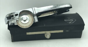 Vintage Dymo Chrome Metal Tapewriter M 55 Hand Embossing Tool W Case aa