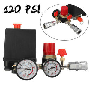95 125psi Air Compressor Pressure Switch Manifold Regulator Control Safety Valve