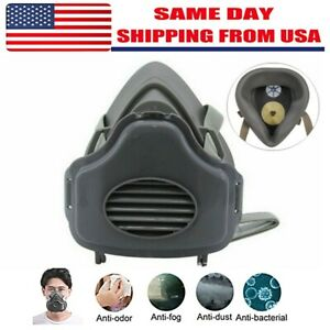 Safety Gas Mask Respirator Half Face Protect For Painting Spraying Facepiece