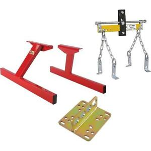 Speedway Sbf V8 Engine Storage Stand With Lift Plate Leveler