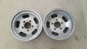 2 Aluminum Slotted Wheels 15x7 Slot Mags Big Ford 5 On 5 1 2