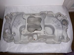 Weiand Oval Port Intake Bb Chevy 8005 Pre Owned Very Good Condition