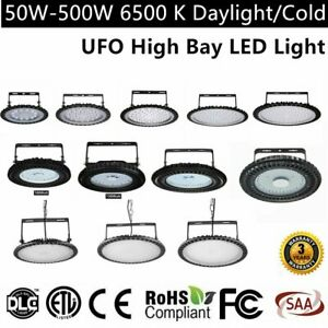 Led High Bay Light 500w 300w 200w 100w Watt Warehouse Led Shop Lamp Fixture Ufo