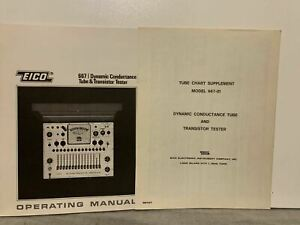 Orignal Eico 667 Dynamic Conductance Tube Transistor Tester Instruction Manual