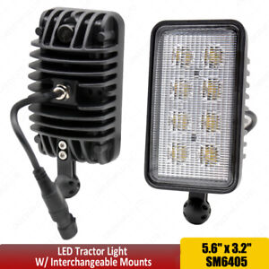 Led Tractor Lights With Interchangeable Mounts Fits John Deere Hay Cutting X1pc