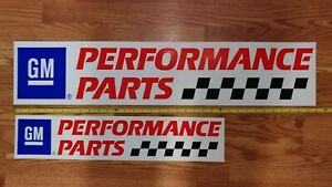 Gm Performance Parts Sticker Decal Racing Race Car Inch 35 Inch And A 24 Set