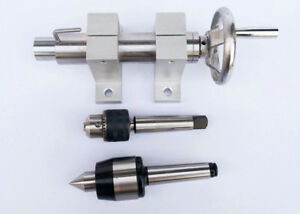 Morse Taper 3 Tailstock Collet Chuck Center Height 60mm Tail Stock Bead Woodwork