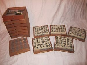Kingsley Lot Of 7 Boxes Hot Foil Stamping Machine Type Font In Original Case