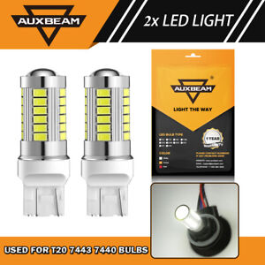 Auxbeam 7443 7440 Led White 6000k Reverse Backup Turn Signal Parking Light Bulbs