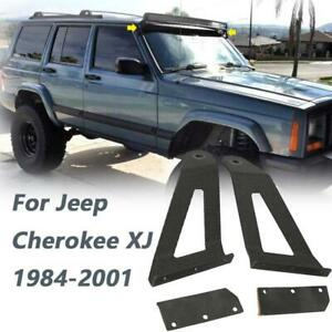 For Jeep Cherokee Xj 1984 2001 50 Curved Led Light Bar Mount Brackets Support
