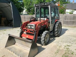 Massey Ferguson Tractor 4x4 1260 Turbo With Loader 7 Power Angle Plow 630 Hrs