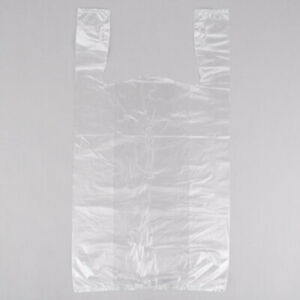 1000 Clear Plastic T shirt Shopping Bags Handles Retail Grocery 11 5 x6 x21