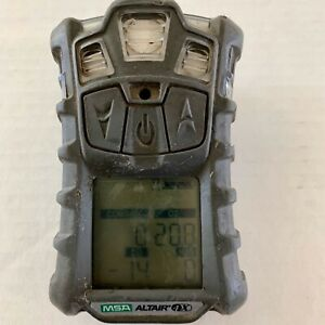 Msa Altair 4x Multigas Gas Monitor Detector O2 H2s Co Lel Charger Not Included