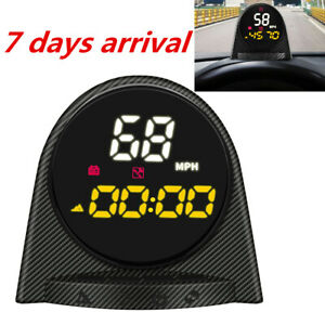 Autool X70 Gps Hud 12v Car Speedometers Kmh Mph Over Speed Alarm Gauge Us Stock