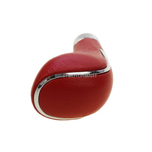 Gear Shift Knob Red Comfortable Leather Shifter Lever Stick Cover Auto Car Suv