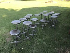 Vintage Adjusto Metal Stool Adj 18 To 26 W 13 360 Turn Seat Lot Of 20