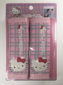 2 Pcs Hello Kitty Car Truck Accessory Seat Belt Shoulder Pads Covers Us Seller