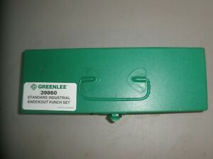Greenlee 39860 Standard Industrial Knockout Punch Set 10 Gage