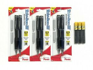 Pentel 6 Twist erase Iii Black blue Mechanical Pencils 0 9mm W Erasers 45 Lead