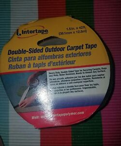 Intertape Outdoor Double sided Carpet Tape 1 5 42 New