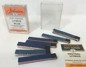 Vintage Chemistry Johnson Paper Testers Ph Red Blue Litmus Test Papers