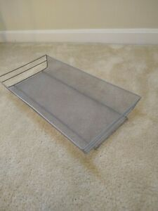 Silver Mesh Letter Legal Tray Desk Organizer 9 X 18