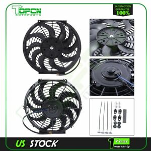 12v Mount Kit 12 Inch New Electric Radiator Cooling Fan Fits 02 09 Gmc Envoy