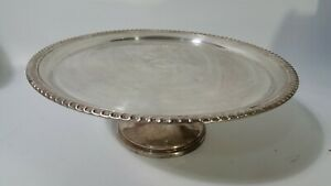 Vintage Silver Plated Cake Stand Serving Display Tray Platter