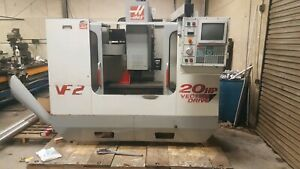Used Haas Vf2 1999 Cat 40 Taper 30x16x20 Travel 4th Axis Ready
