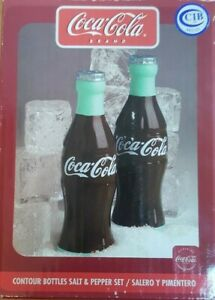 GIBSON COCA COLA SALT AND PEPPER SHAKERS 4.25 INCHES TALL