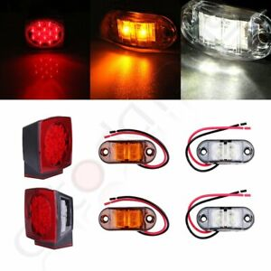 Red Led Submersible Truck Trailer Stop Tail Brake Light Side Marker Under 80