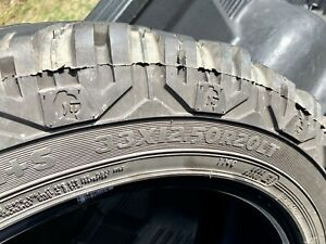 Set Of 4 Used Cooper Discoverer Stt 33 12 50 20 Mud Tires Used 10 Ply Tires