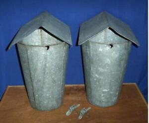 2 Maple Syrup Old Galvanized Sap Buckets Lids Covers Taps Spiles Spouts