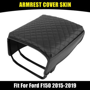 Center Console Cover For Ford F150 2015 2019 Armrest Cover Pad Replacement Black