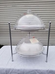 Cal mil S1603 Display Stand With The Dome Trays 18x18x19 Stand