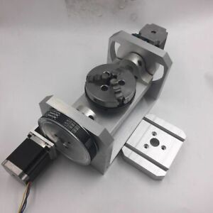 5th Five Axis Rotary Axis 3 Jaw 100mm Chuck Ratio 6 1 Dividing Head Cnc Router