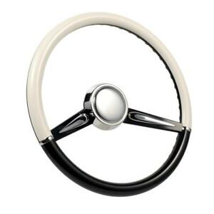 Con2r Sw2spoke Blk Two Tone Twin Spoke Steering Wheel Black And White