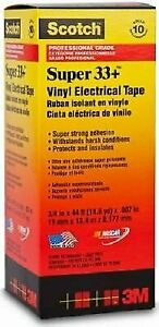 Scotch Super 33 Vinyl Electrical Tape 3 4 X 44 Ft Pack Of 10 Rolls