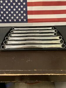 Snap On 6pc Metric 12 Point Flank Drive Standard Handle Offset Box Wrench Set