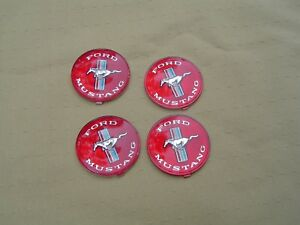 65 66 Mustang Style Wheel Hubcap Emblem Inserts Nos Set Of 4 Gt
