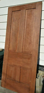 35 1 2 X 83 1 8 X 1 3 8 Antique Victorian Door W 4 Panels Solid Wood