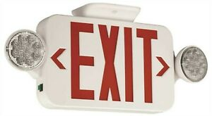 Hubbell Exit Light Emergency Led Light Combination Sign Remote Option