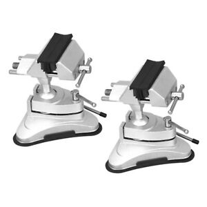 2pcs Universal Bench Vise Working Clamp Rotating Rubber Suction Base